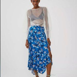 NWT Zara Floral Print Maxi Skirt